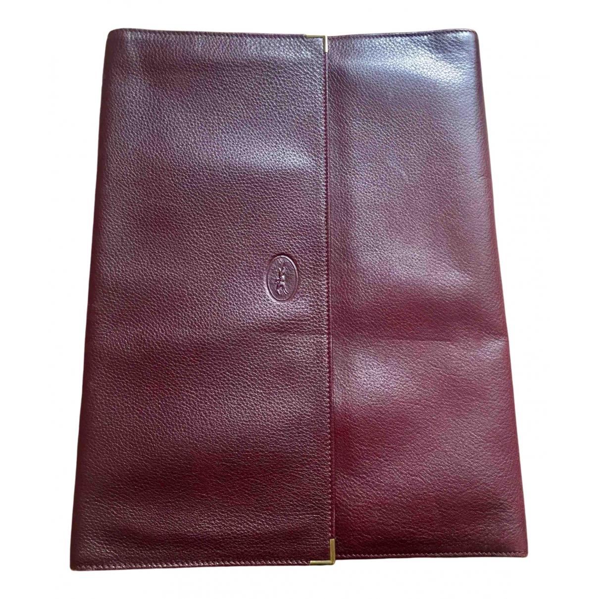 Longchamp - Petite maroquinerie   pour homme en cuir - bordeaux