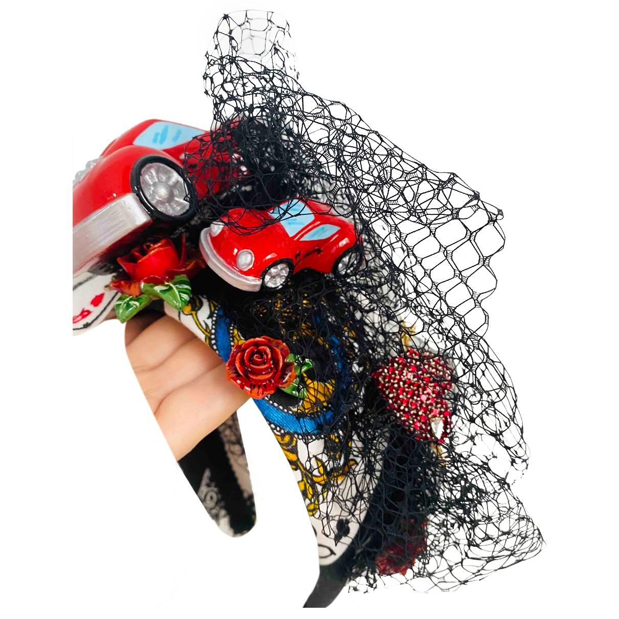Dolce & Gabbana - Bijoux de tete   pour femme en polyamide - noir