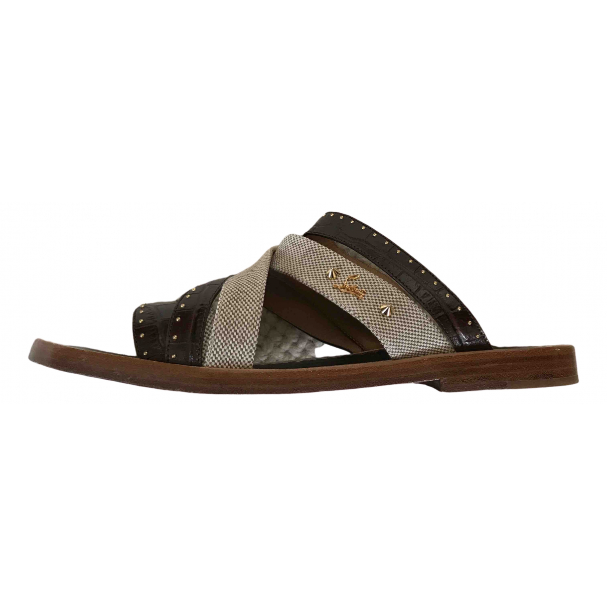 Christian Louboutin \N Brown Leather Sandals for Men 42 EU