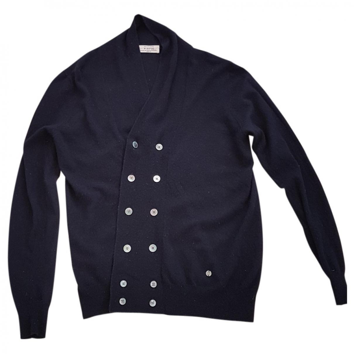 Mauro Grifoni \N Pullover.Westen.Sweatshirts  in  Marine Kaschmir
