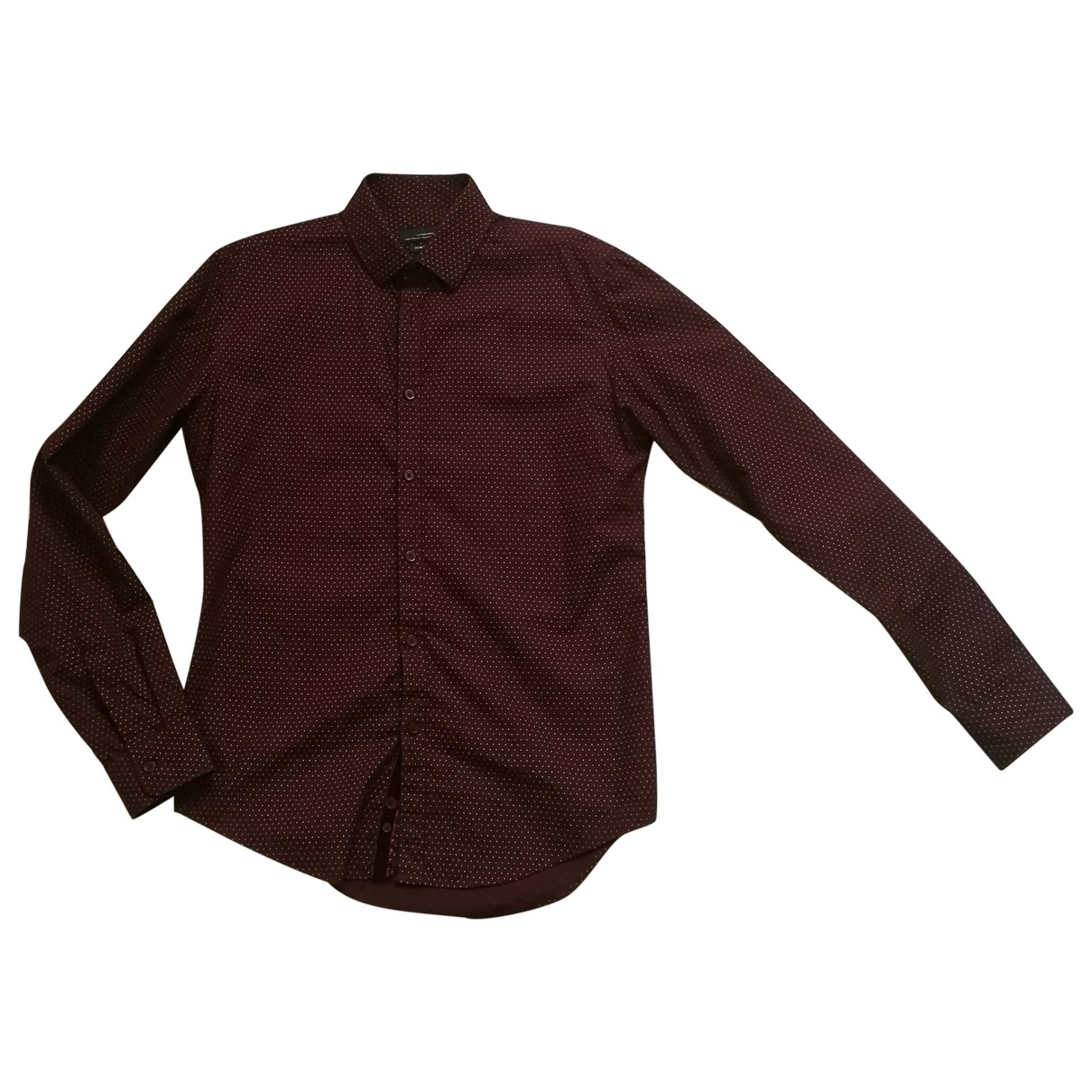 Zara \N Burgundy Cotton Shirts for Men M International