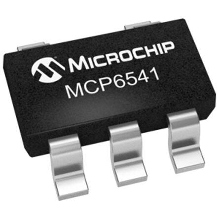 Microchip MCP6541T-E/OT , Comparator, Push-Pull O/P, 3 V, 5 V 5-Pin SOT-23 (10)