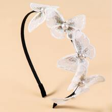 Aro de pelo con diseño de mariposa