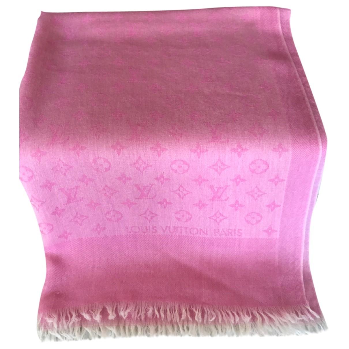 Louis Vuitton Châle Monogram Pink Silk scarf for Women \N