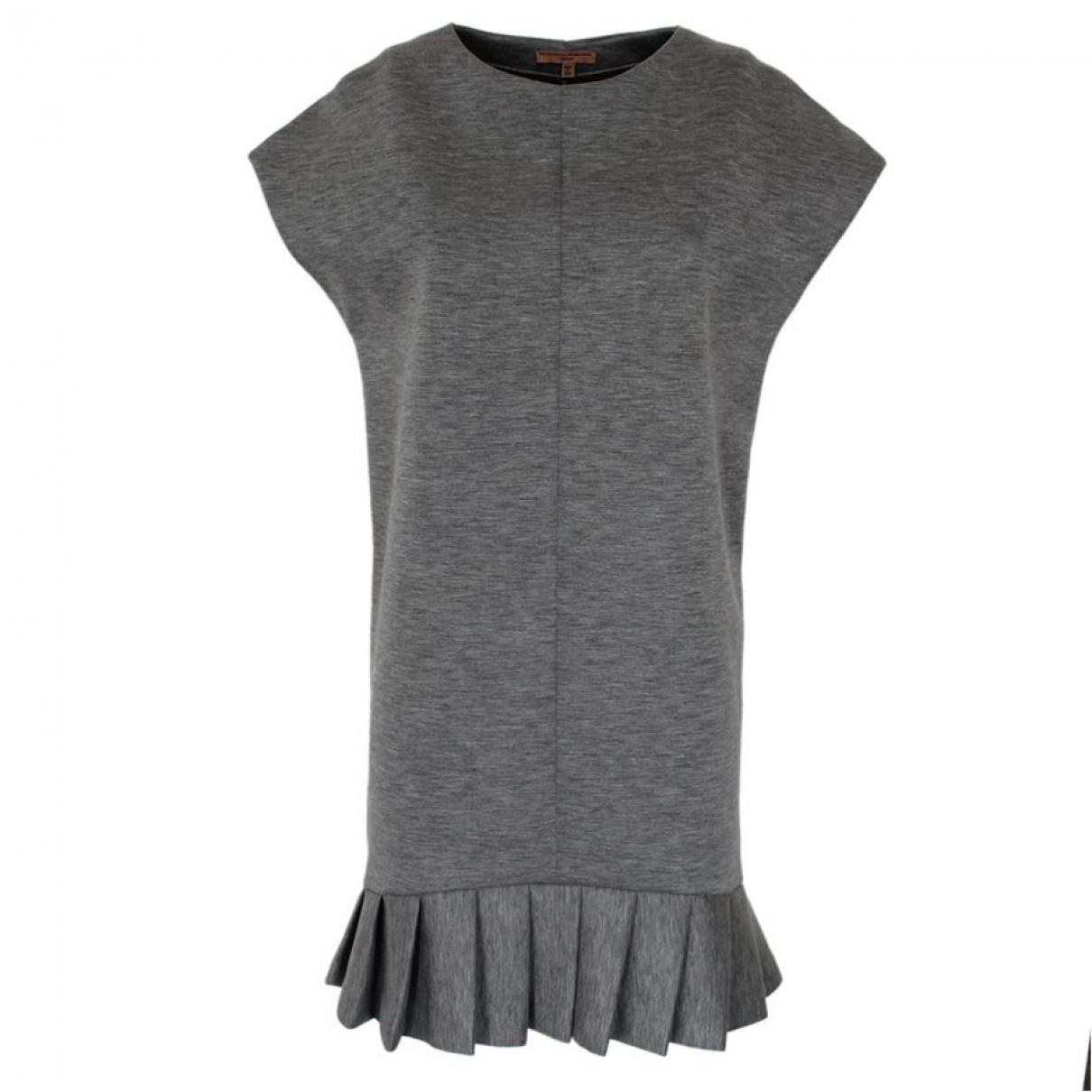Ermanno Scervino \N Grey Cotton dress for Women 40 IT