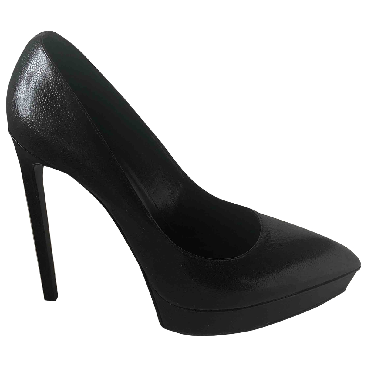Saint Laurent - Escarpins Janis pour femme en cuir - noir
