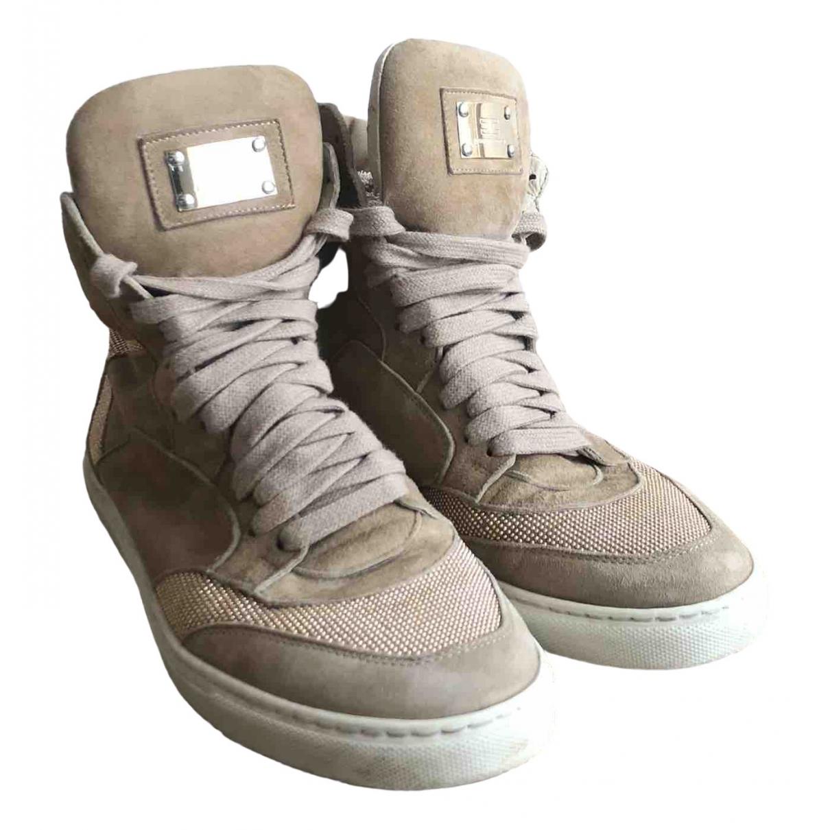 Elisabetta Franchi \N Sneakers in  Beige Leder