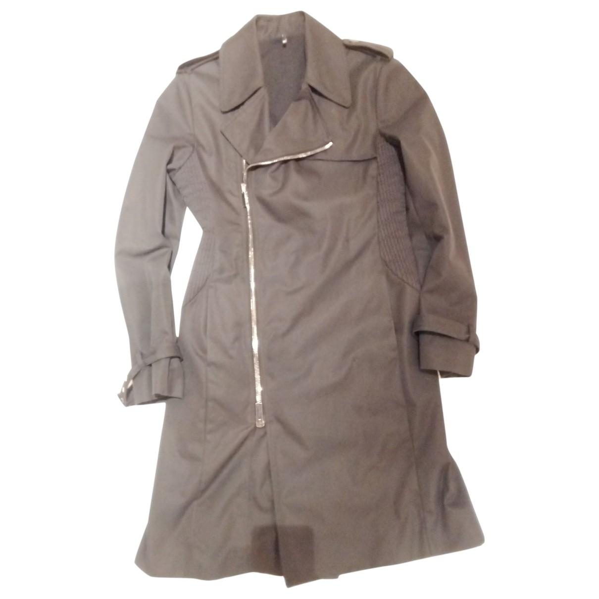 Karl Lagerfeld \N Black Cotton Trench coat for Women L International