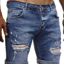 Shorts denim rotos de hombres