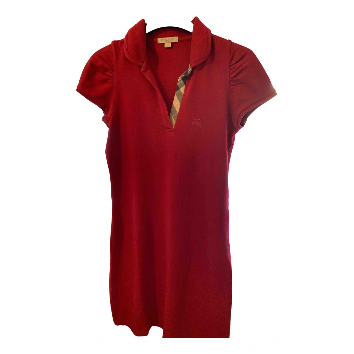 Burberry \N Kleid in  Rot Baumwolle