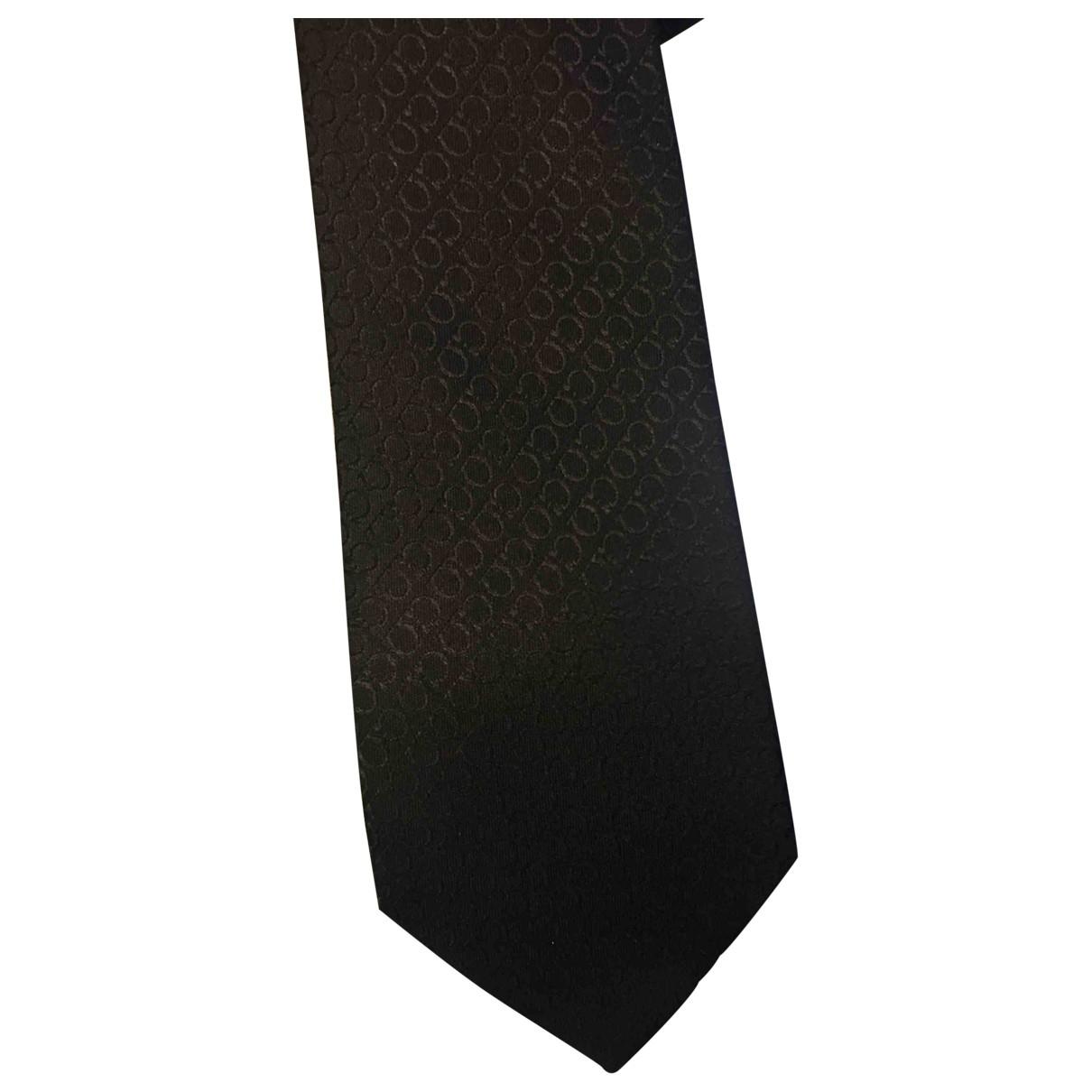 Salvatore Ferragamo \N Black Silk Ties for Men \N
