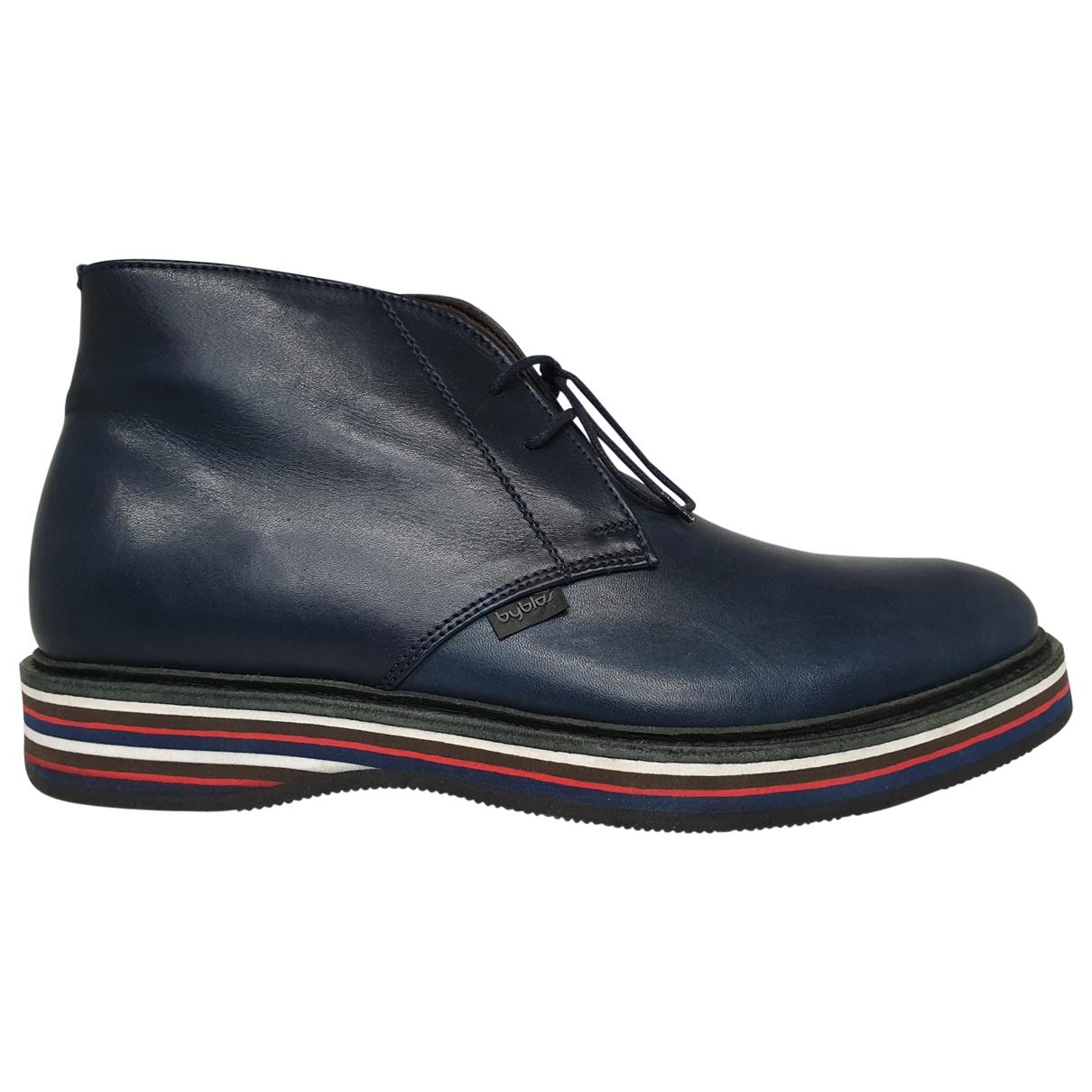 Byblos \N Blue Leather Boots for Men 40 EU
