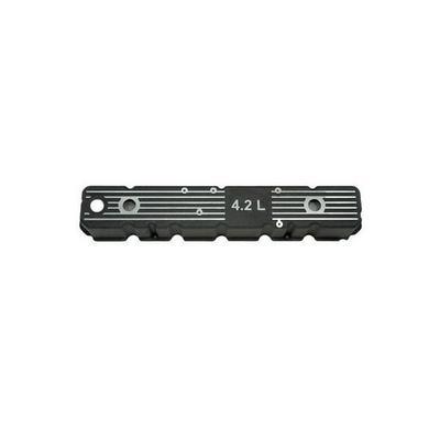 Omix-ADA Black 4.2L Aluminum Valve Cover Kit With Hardware and Cork Gasket (Black) - 17401.08