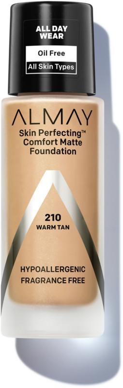 Skin Perfecting Comfort Matte Foundation - 210 Warm Tan (Warm Tan)