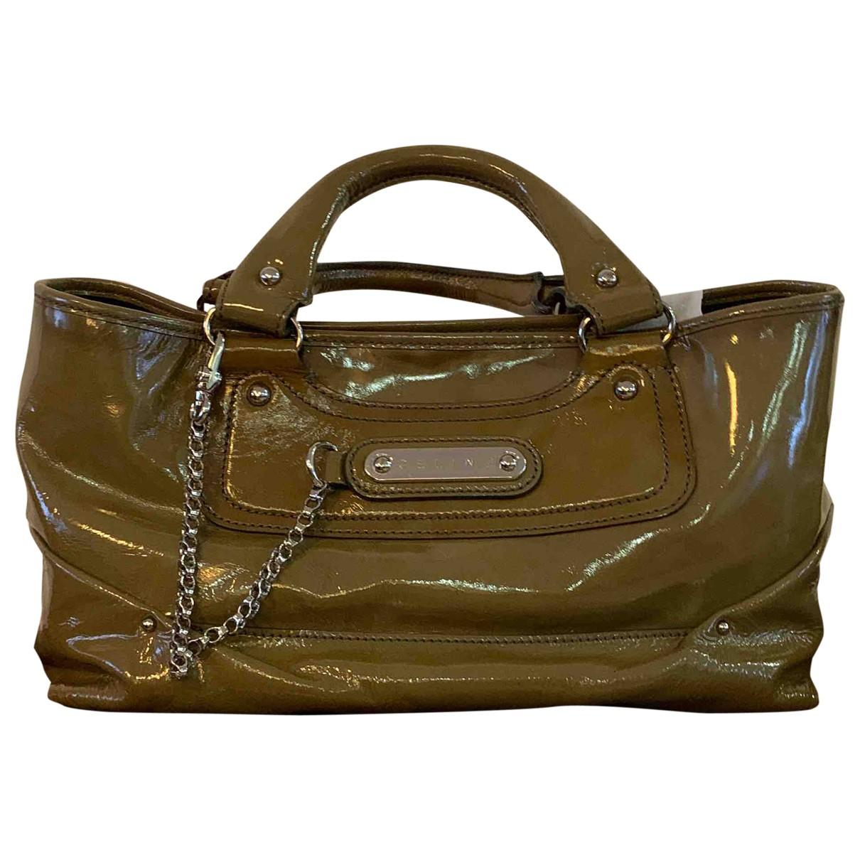 Celine Boogie Handtasche in  Gruen Lackleder