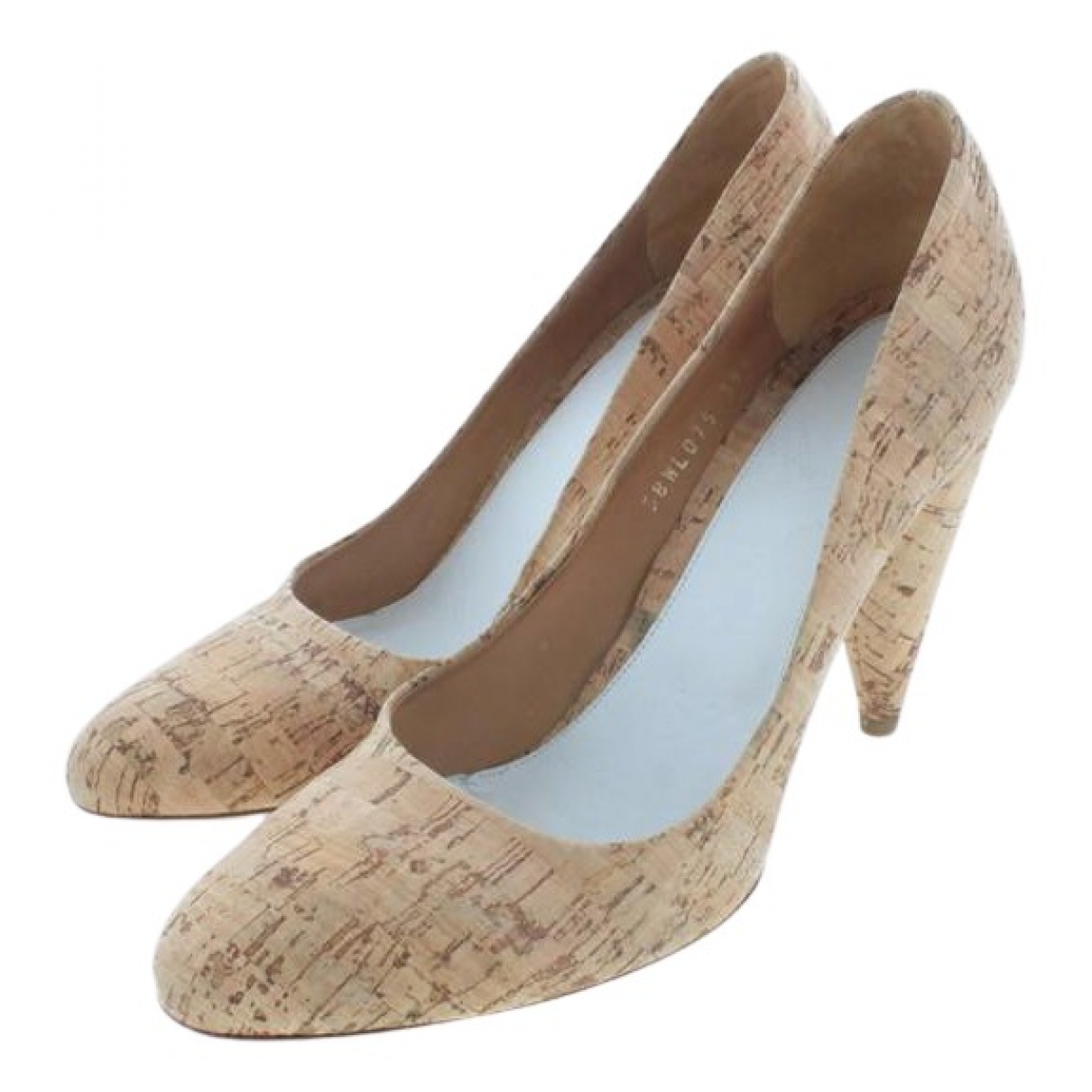 Maison Martin Margiela N Beige Cloth Heels for Women 39.5 EU