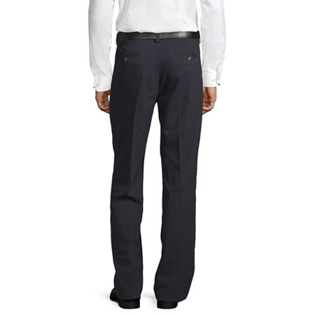 St. John's Bay Easy Care Men's Stretch Classic Fit Pleated Pant, 34 32, Blue