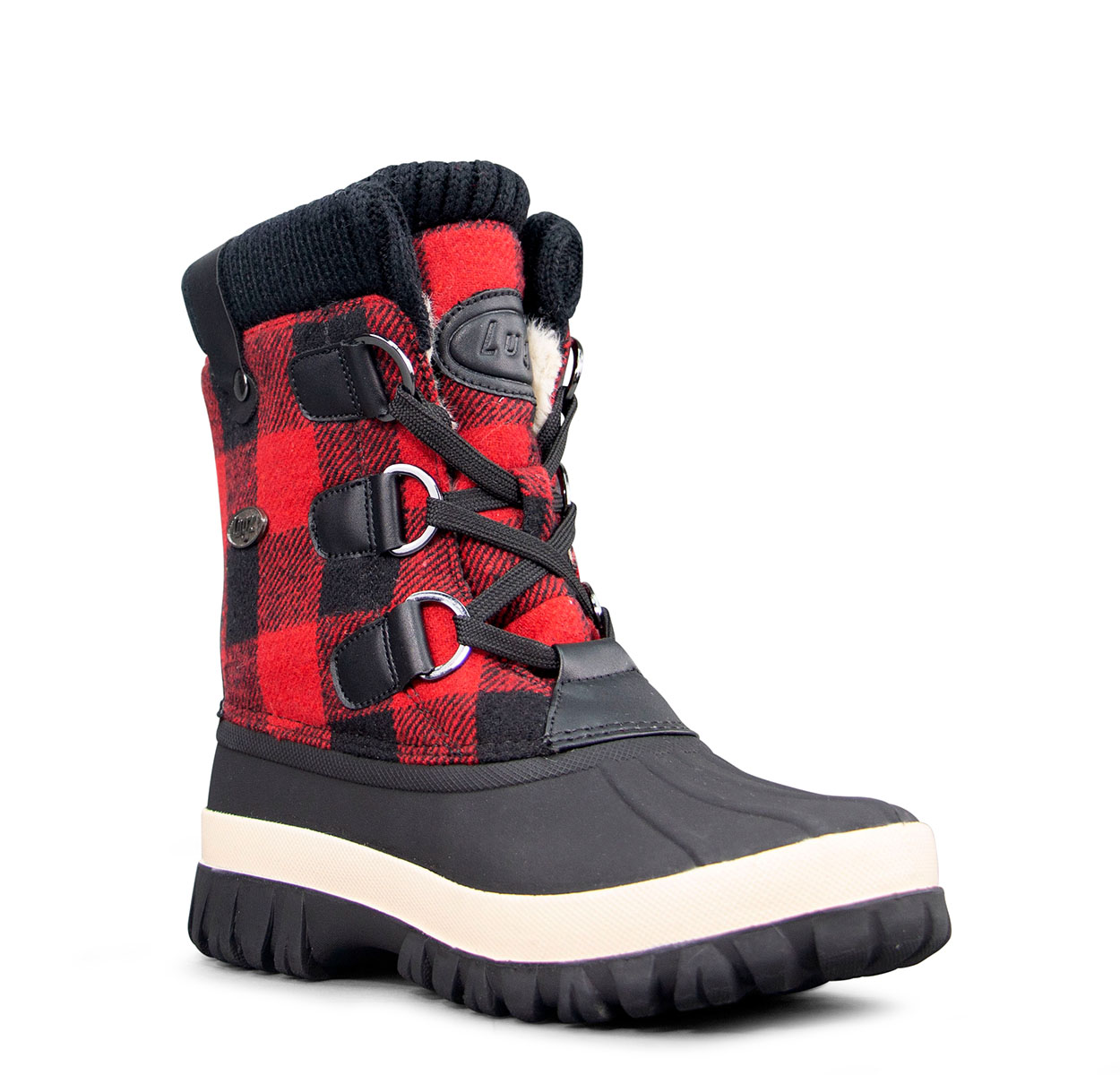 Women's Stormy 6-Inch Boot (Choose Your Color: BLACK/RED/CREAM, Choose Your Size: 9.0)