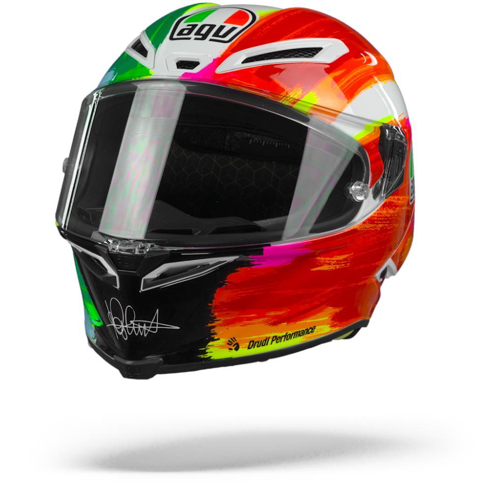 AGV Pista GP RR Rossi Mugello 2019 Casco Integral Verde Blanco Rojo  S