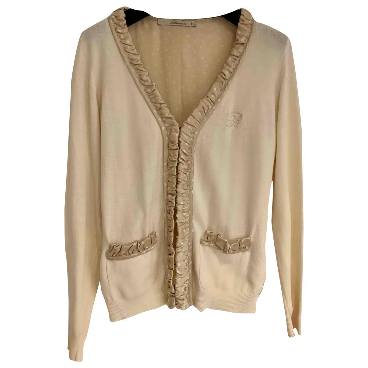 Blumarine - Pull   pour femme en coton - beige