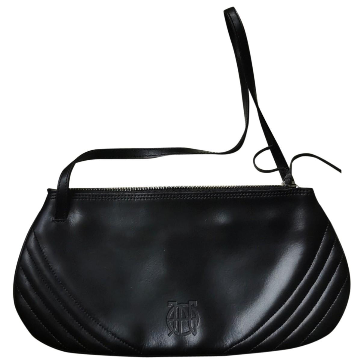 Jean Paul Gaultier - Pochette   pour femme en cuir - noir