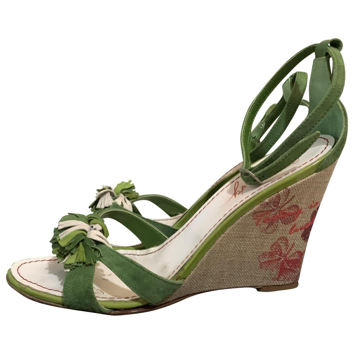 Non Signé / Unsigned \N Green Cloth Heels for Women 39 IT