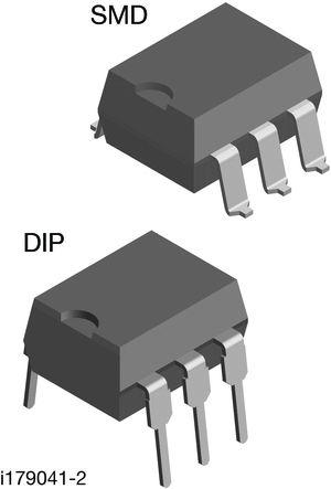 Vishay VO3062, 6V, TRIAC, Gate Trigger 22V 10mA, 6-pin, Through Hole, DIP (50)
