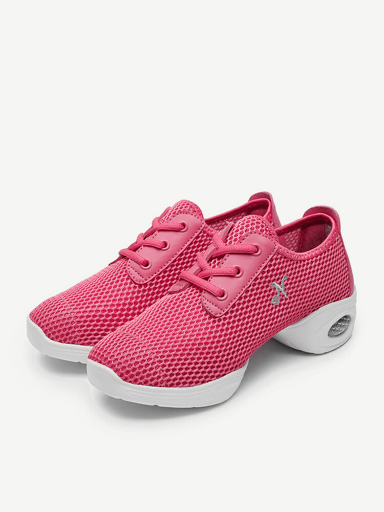 Mesh Cushioned Pure Color Casual Sport Shoes