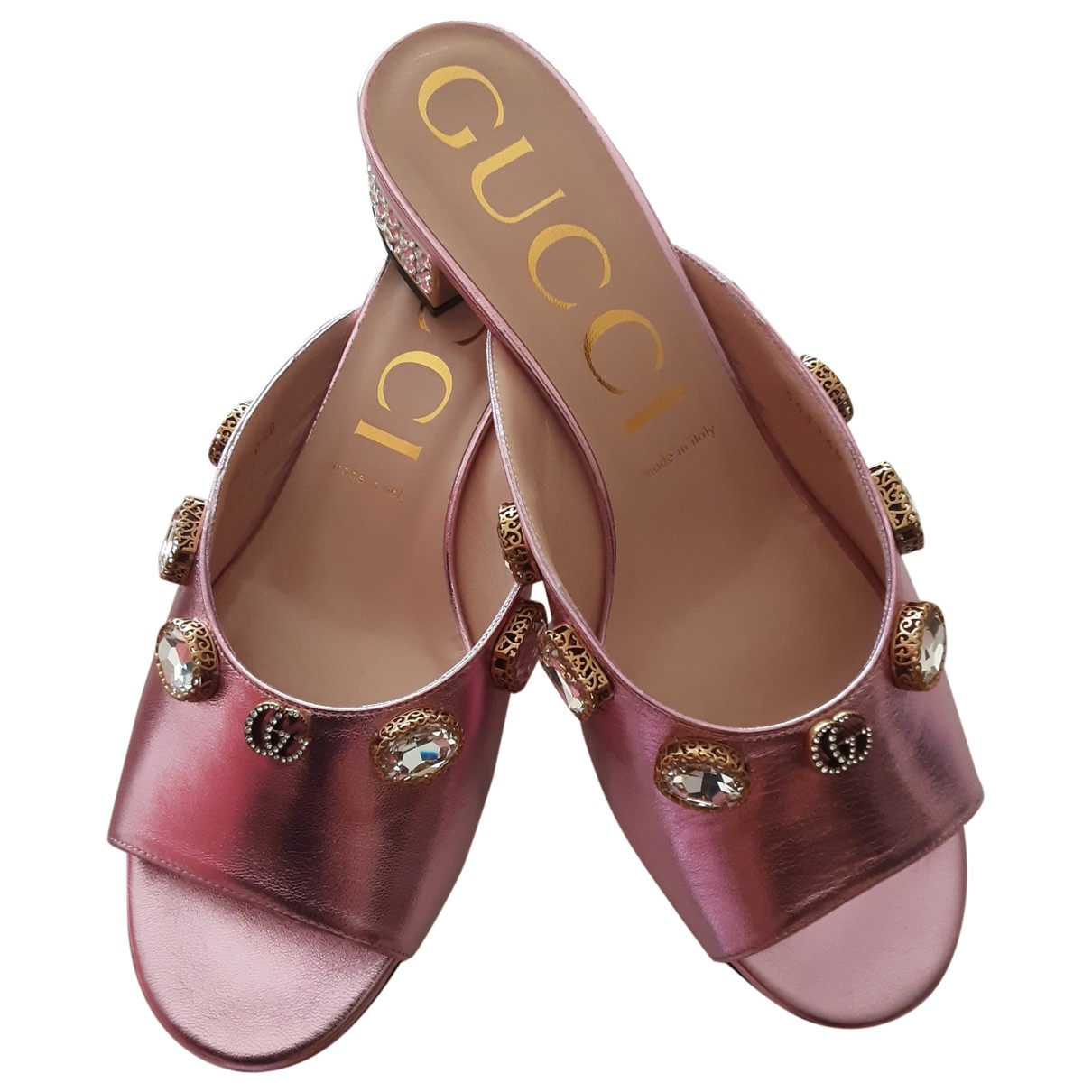 Gucci \N Pink Leather Sandals for Women 40 EU