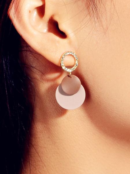 Milanoo Earrings Amber Metal Pierced Women Jewelry