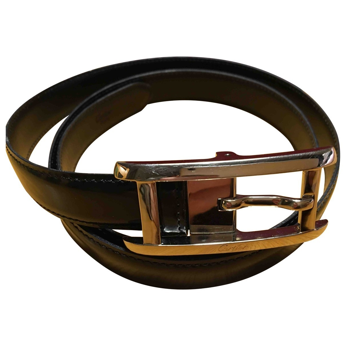 Cartier \N Black Patent leather belt for Women 85 cm