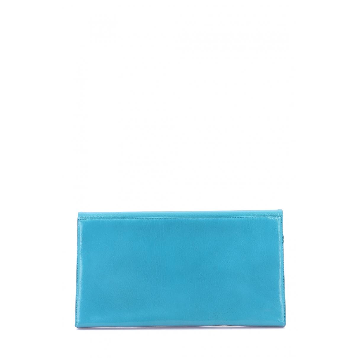 Autre Marque \N Clutch in  Blau Leder