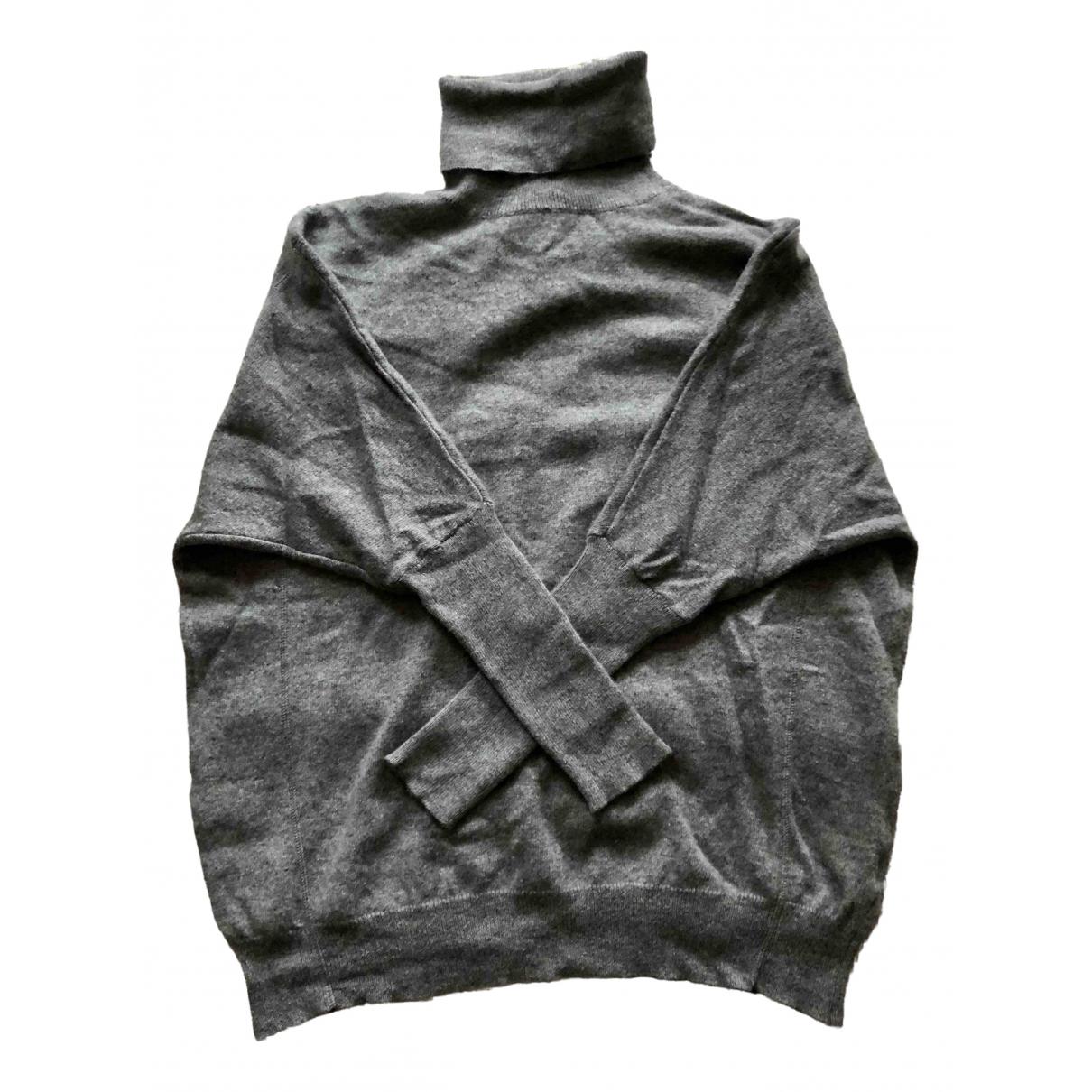 Ganni - Pull   pour femme en cachemire - gris