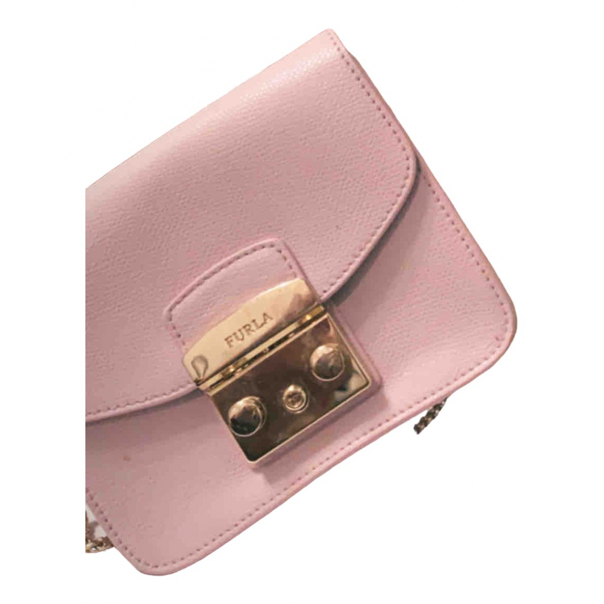 Furla Candy Bag Pink Patent leather handbag for Women N