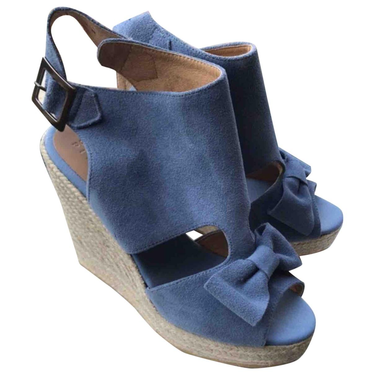 Claudie Pierlot \N Blue Suede Mules & Clogs for Women 40 EU