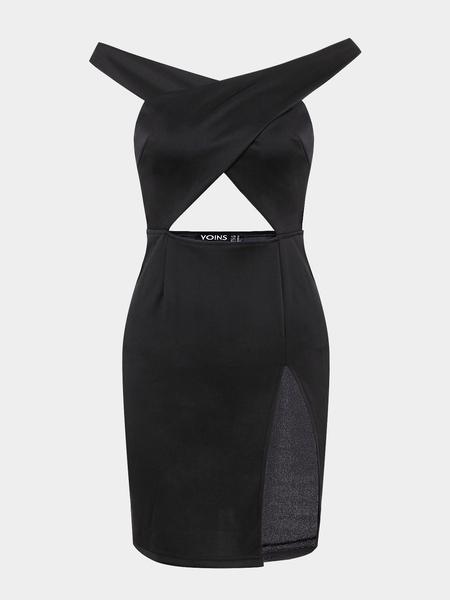 Yoins Cross Front Bodycon Dress