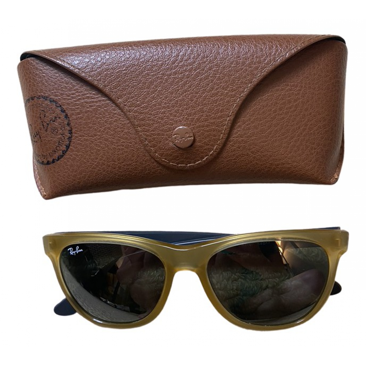 Ray-ban New Wayfarer Yellow Sunglasses for Men \N