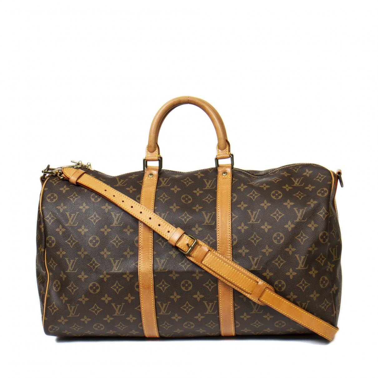 Louis Vuitton Keepall Brown Cotton Travel bag for Women \N