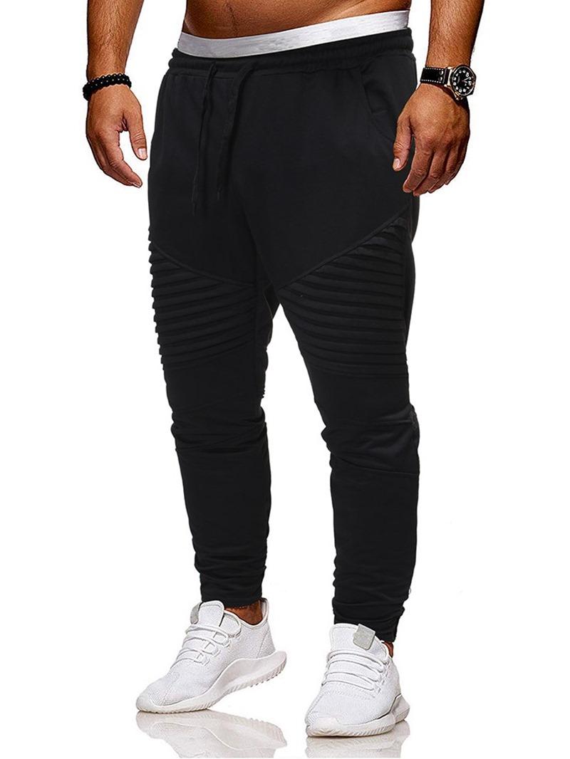 Ericdress Harem Lace-Up Plain Men's Casual Pants
