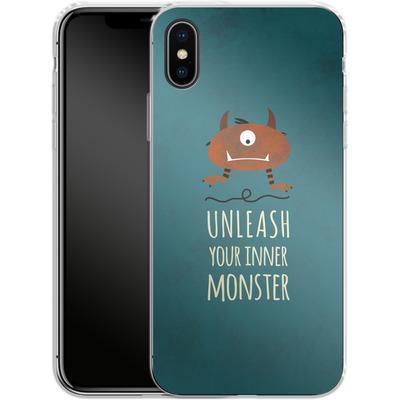 Apple iPhone X Silikon Handyhuelle - Unleash Your Inner Monster von Statements