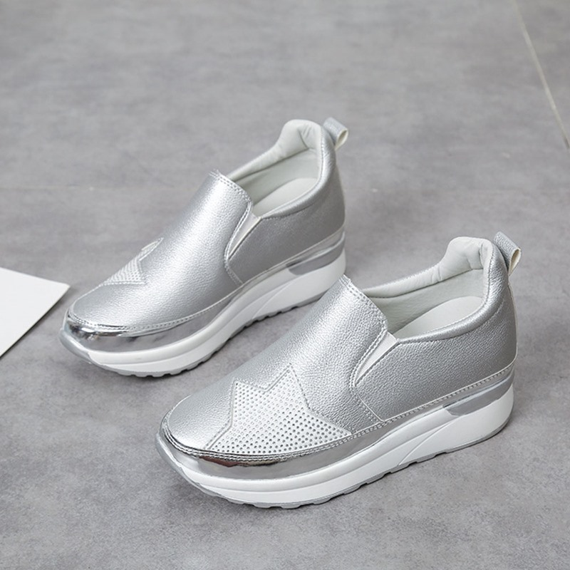 Ericdress Platform Round Toe Mid-Cut Upper Casual Sneakers