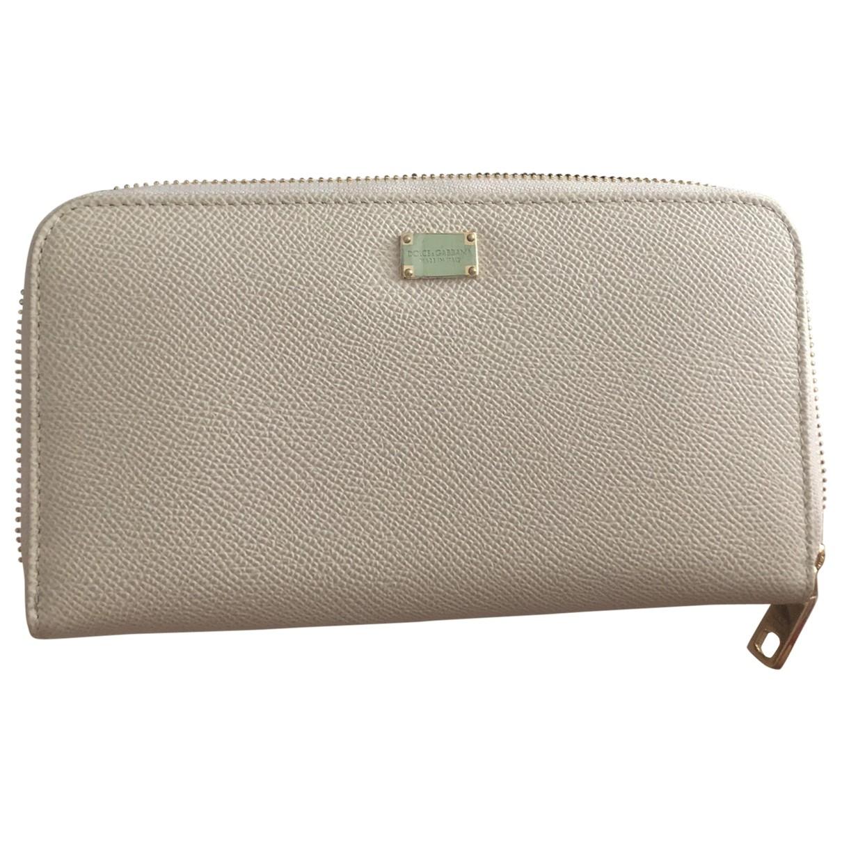 Dolce & Gabbana - Portefeuille   pour femme en cuir - blanc