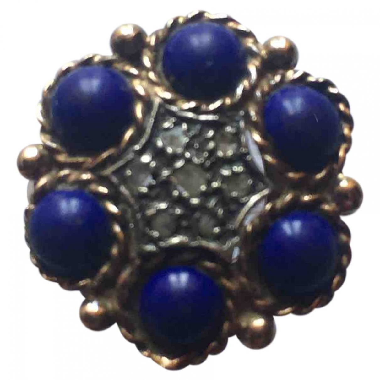 Non Signé / Unsigned Lapis lazuli Yellow Yellow gold ring for Women \N