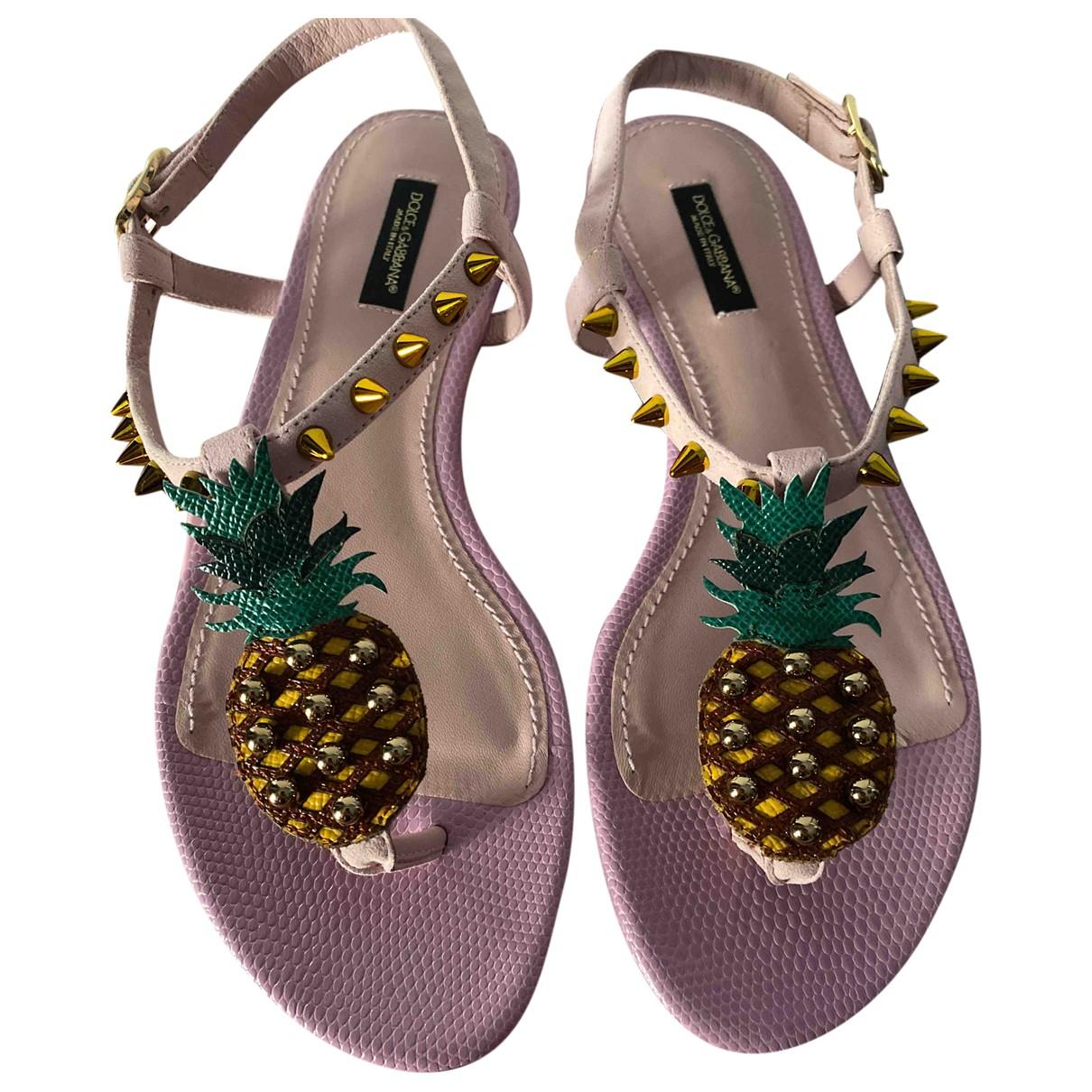 Dolce & Gabbana \N Sandalen in  Rosa Leder