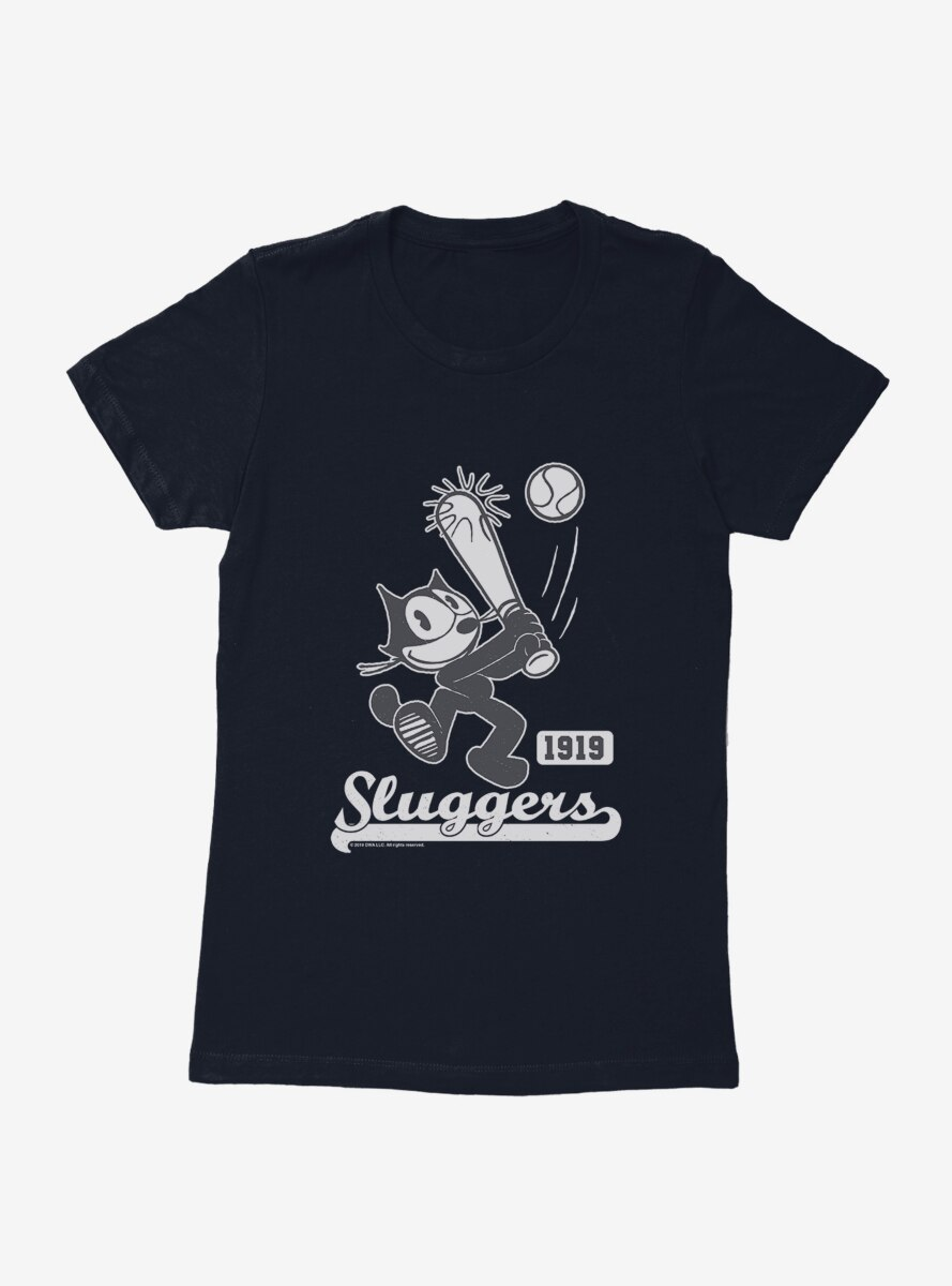 Felix The Cat Sluggers 1919 Baseball Womens T-Shirt