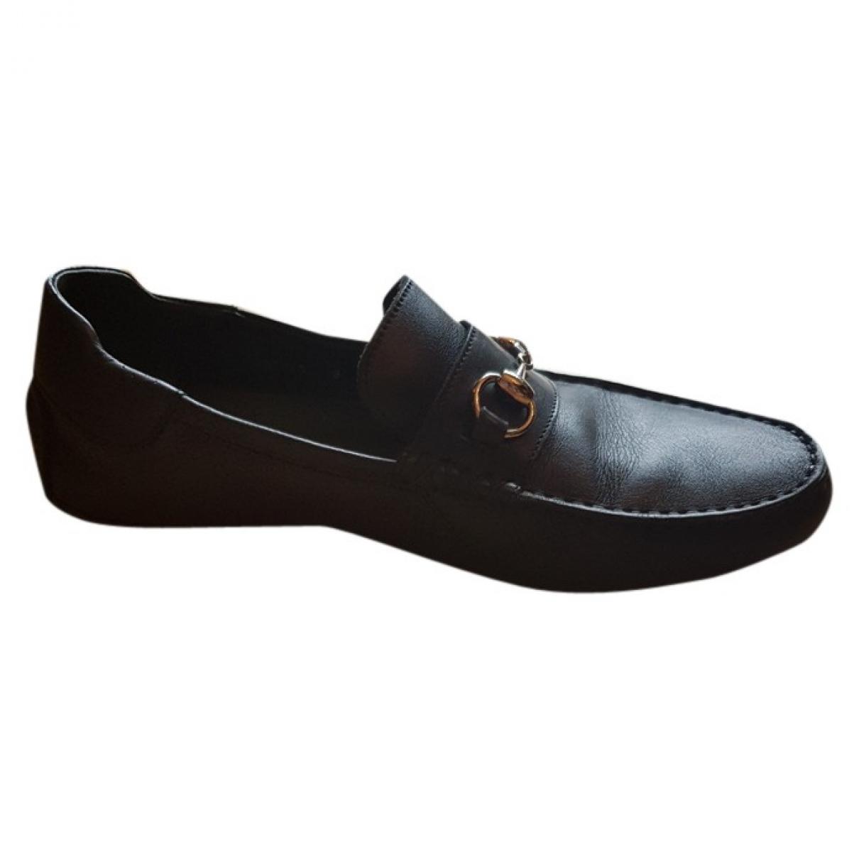 Gucci \N Black Leather Flats for Men 8 UK