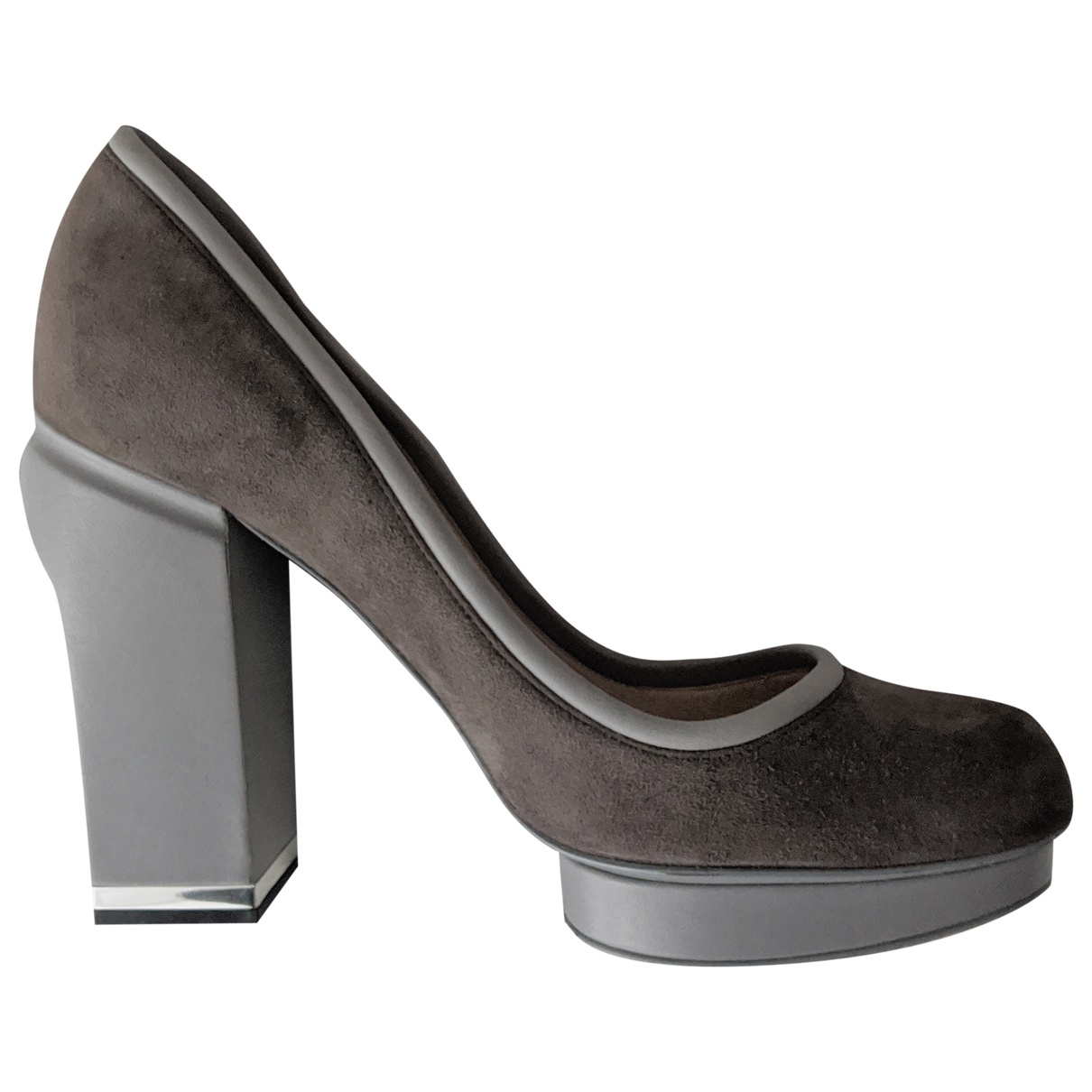 Bally \N Grey Suede Heels for Women 39 EU