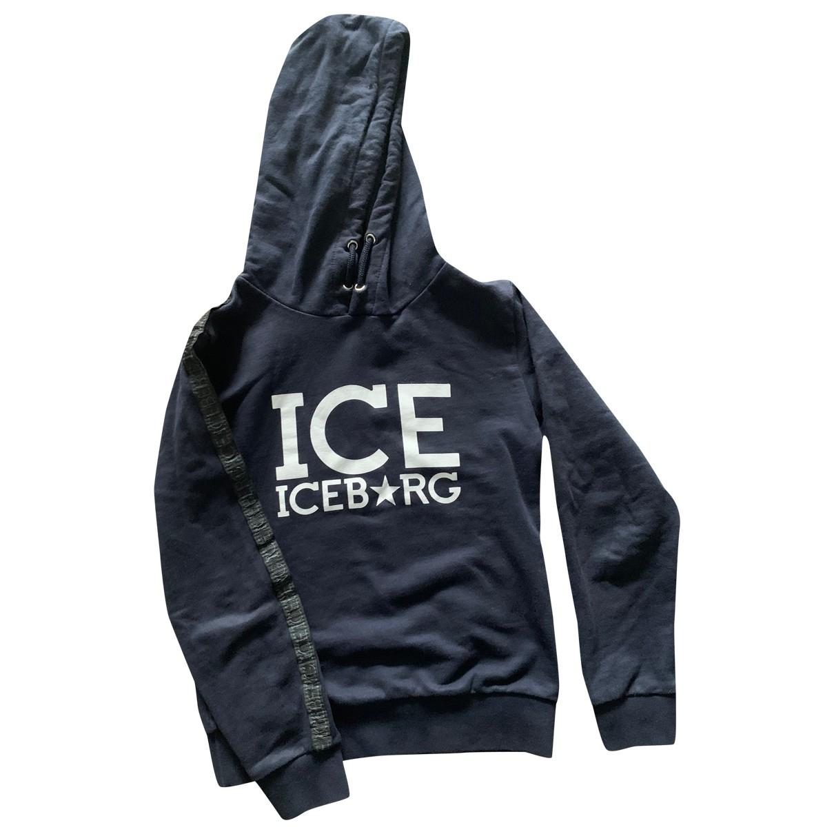 Iceberg - Pull   pour enfant en coton - bleu