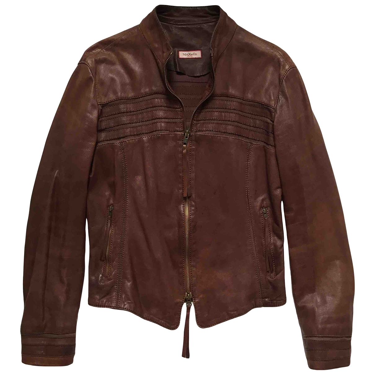 Max & Co \N Jacke in  Braun Leder