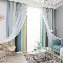 Double Layer Single Panel Curtain